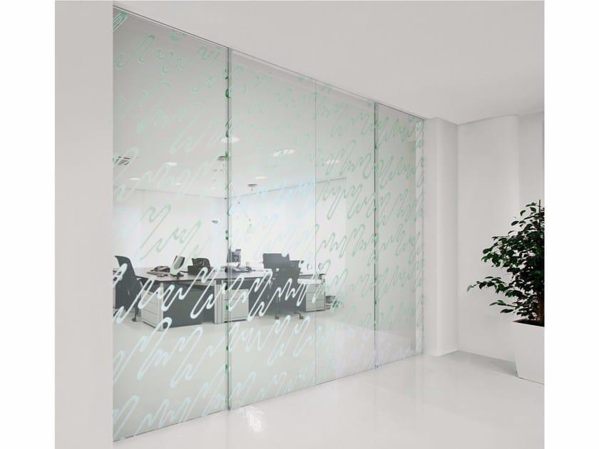 Glass sliding door SPACE BOLERO by FOA