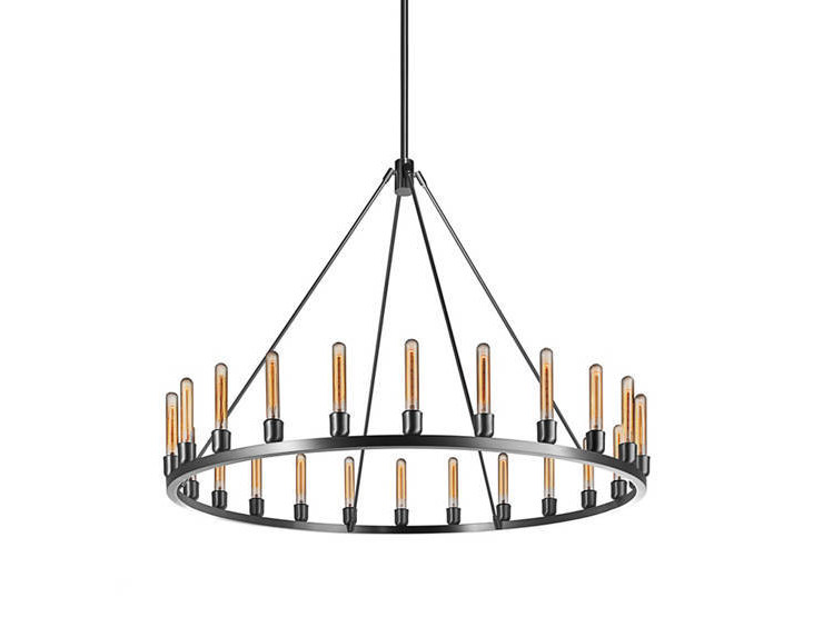 Indirect light metal chandelier SPARK 48 by Niche Modern