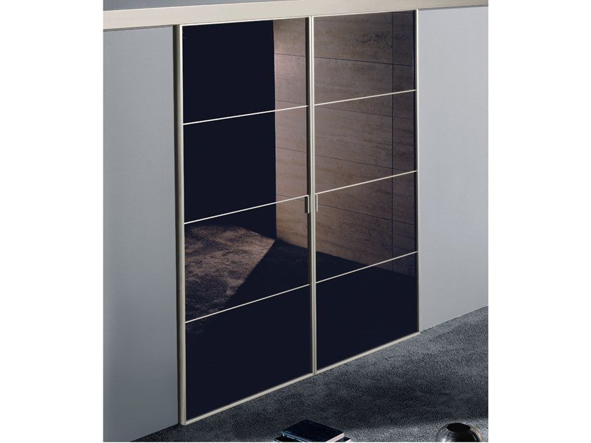 Lacquered glass sliding door SPARK | Lacquered door by Longhi