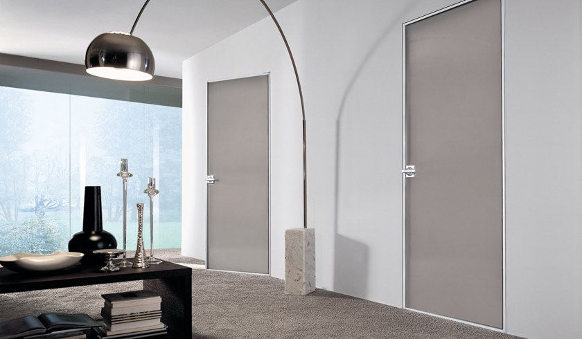 Hinged lacquered glass door SPARK | Lacquered glass door by Longhi