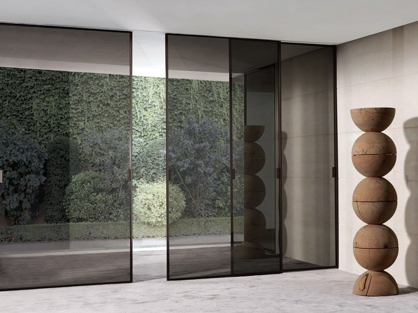 Glass sliding door SPARK | Sliding door by Longhi