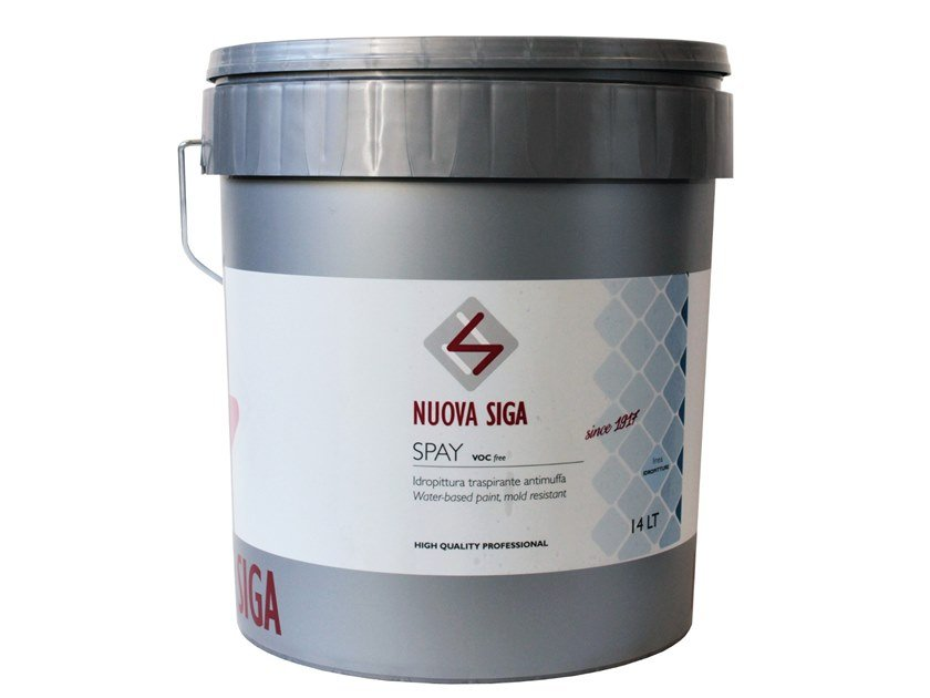Breathable water-based paint SPAY by Nuova Siga