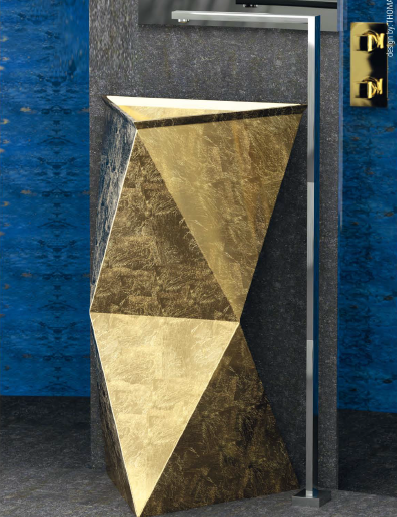 Freestanding single glass washbasin SPAZIO by Glass Design