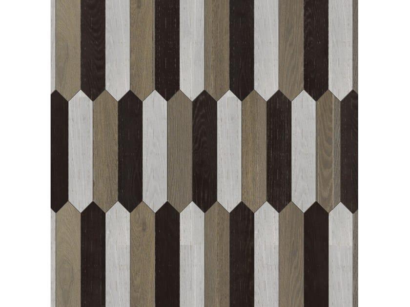 Pavimento/rivestimento intarsiato in legno per interni MODULO SPECIALE MATITA POSA 101 by FOGLIE D'ORO