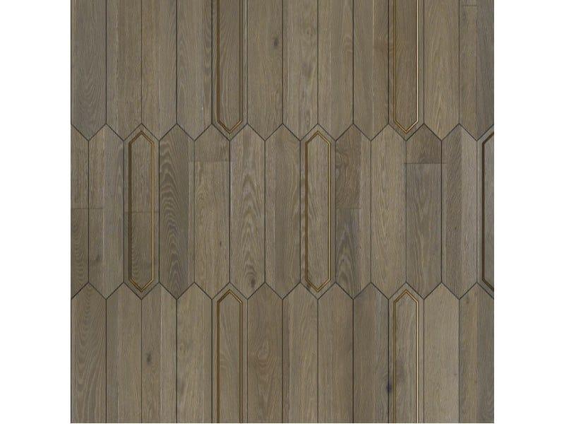 Pavimento/rivestimento intarsiato in legno per interni MODULO SPECIALE MATITA POSA 110 by FOGLIE D'ORO
