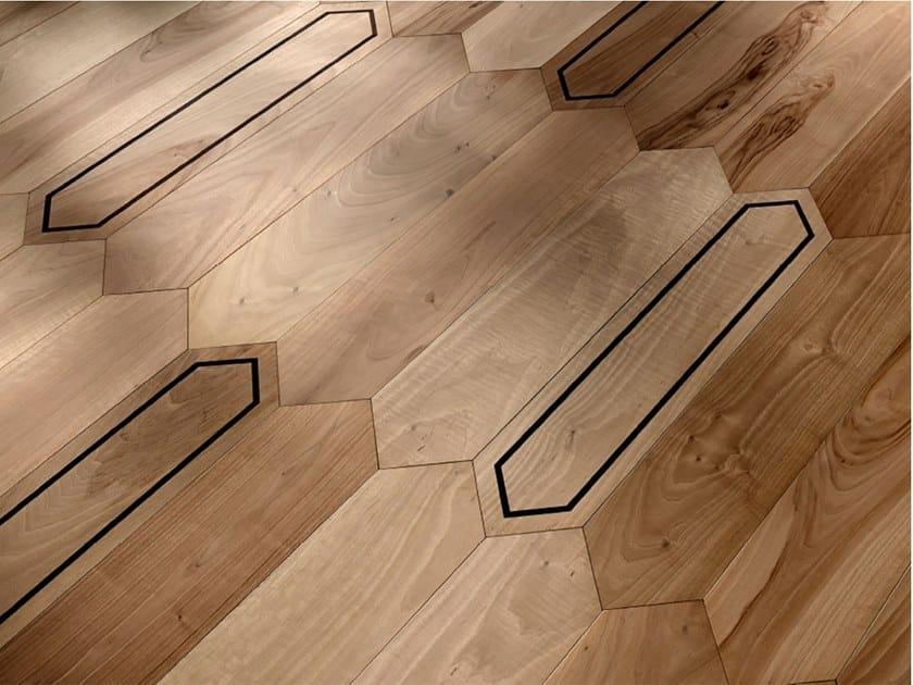 Pavimento/rivestimento intarsiato in legno per interni MODULO SPECIALE MATITA POSA 111 by FOGLIE D'ORO