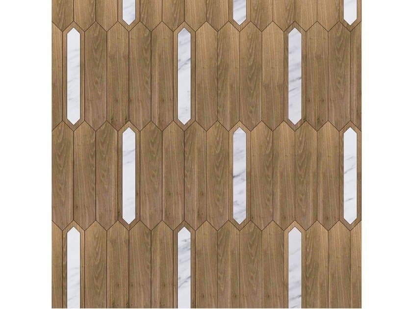 Pavimento/rivestimento intarsiato in legno per interni MODULO SPECIALE MATITA POSA 113 by FOGLIE D'ORO