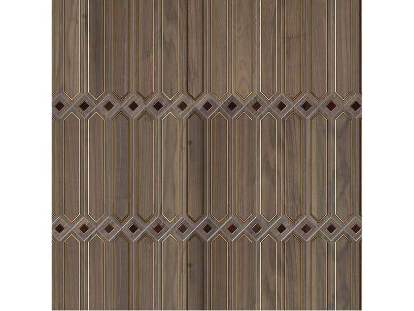 Pavimento/rivestimento intarsiato in legno per interni MODULO SPECIALE MATITA POSA 120 by FOGLIE D'ORO