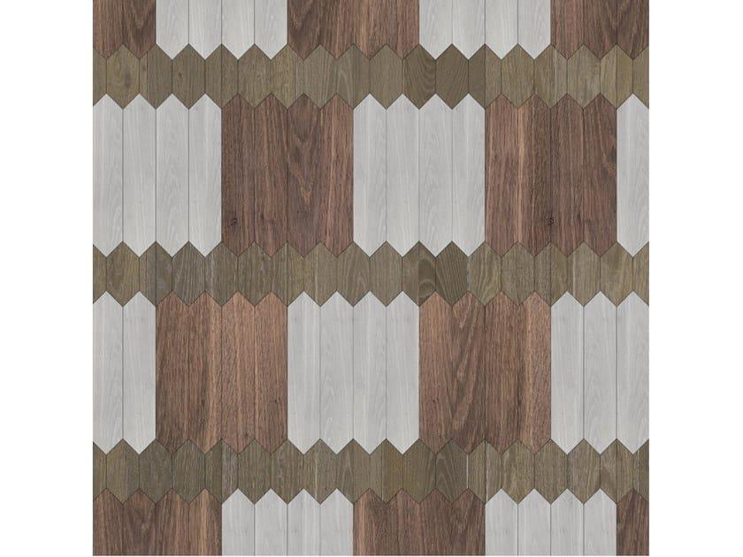 Pavimento/rivestimento intarsiato in legno per interni MODULO SPECIALE MATITA POSA 161 by FOGLIE D'ORO