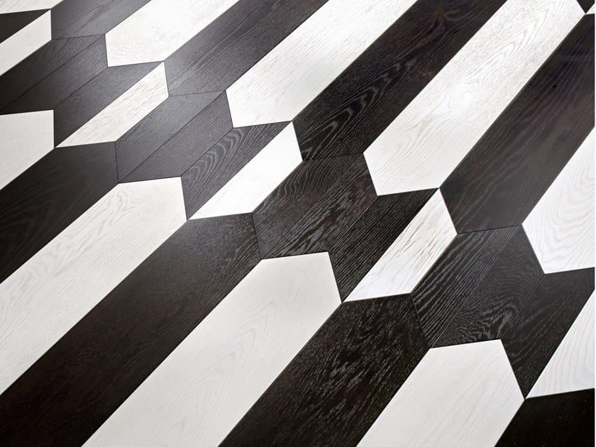 Pavimento/rivestimento intarsiato in legno per interni MODULO SPECIALE MATITA POSA 172 by FOGLIE D'ORO