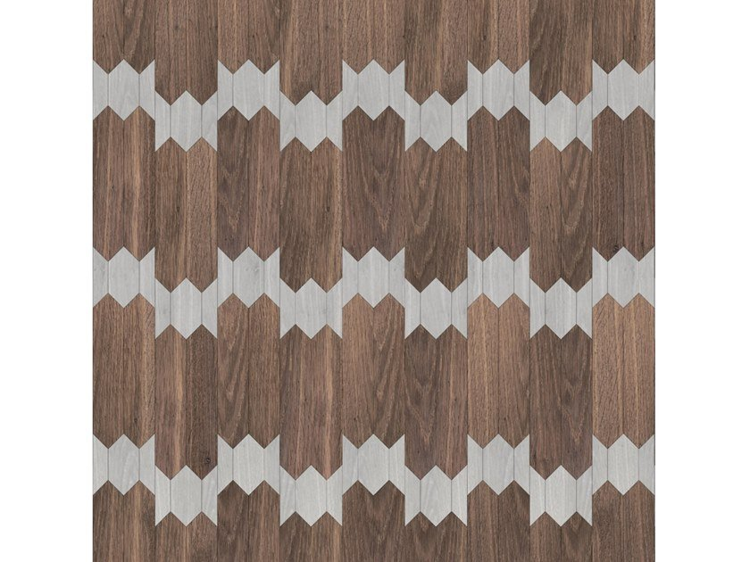Pavimento/rivestimento intarsiato in legno per interni MODULO SPECIALE MATITA POSA 180 by FOGLIE D'ORO