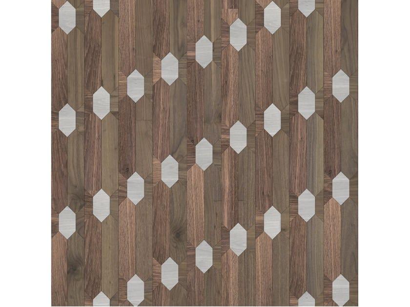 Pavimento/rivestimento intarsiato in legno per interni MODULO SPECIALE MATITA POSA 190 by FOGLIE D'ORO