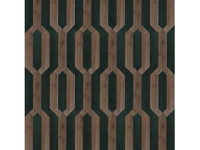 Pavimento/rivestimento intarsiato in legno per interni MODULO SPECIALE MATITA POSA 200 by FOGLIE D'ORO