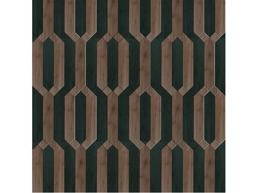 Pavimento/rivestimento intarsiato in legno per interni MODULO SPECIALE MATITA POSA 210 by FOGLIE D'ORO