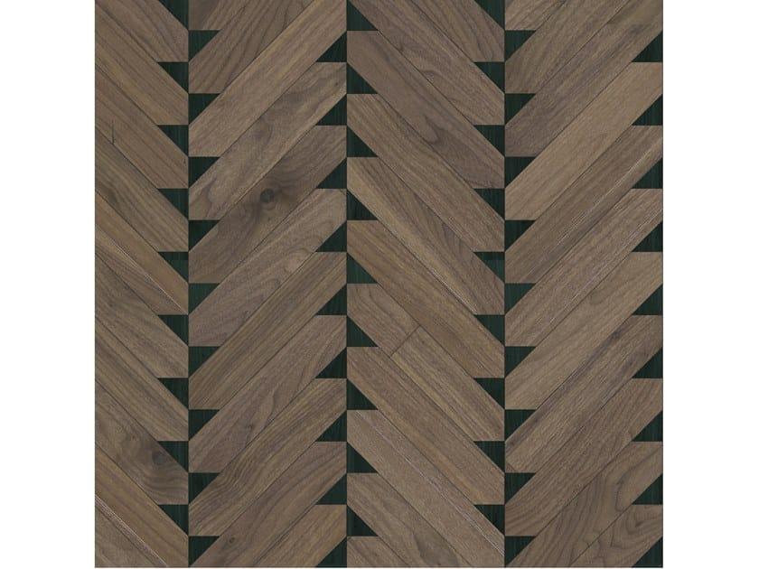 Pavimento/rivestimento intarsiato in legno per interni MODULO SPECIALE MATITA POSA 220 by FOGLIE D'ORO