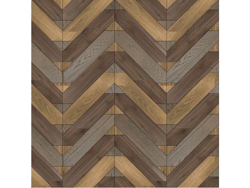Pavimento/rivestimento intarsiato in legno per interni MODULO SPECIALE MATITA POSA 240 by FOGLIE D'ORO