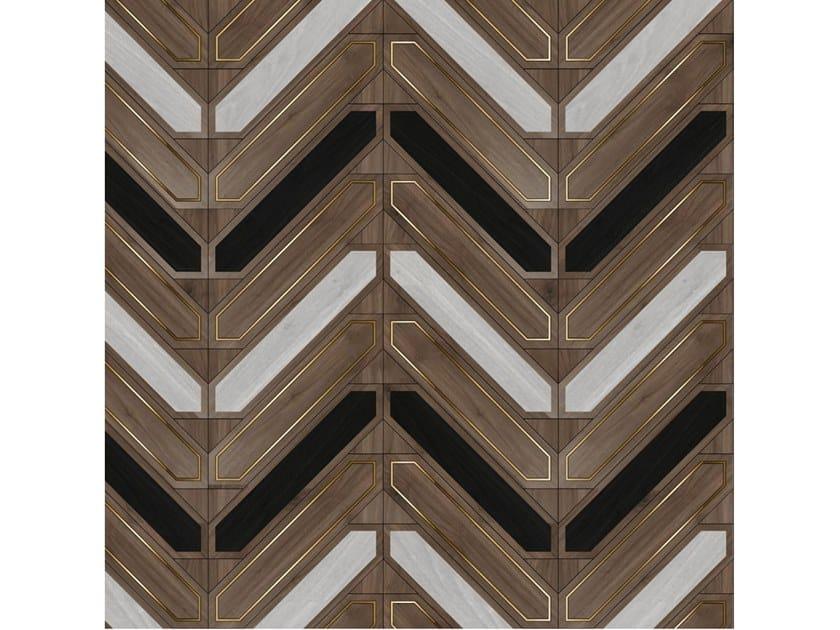 Pavimento/rivestimento intarsiato in legno per interni MODULO SPECIALE MATITA POSA 242 by FOGLIE D'ORO