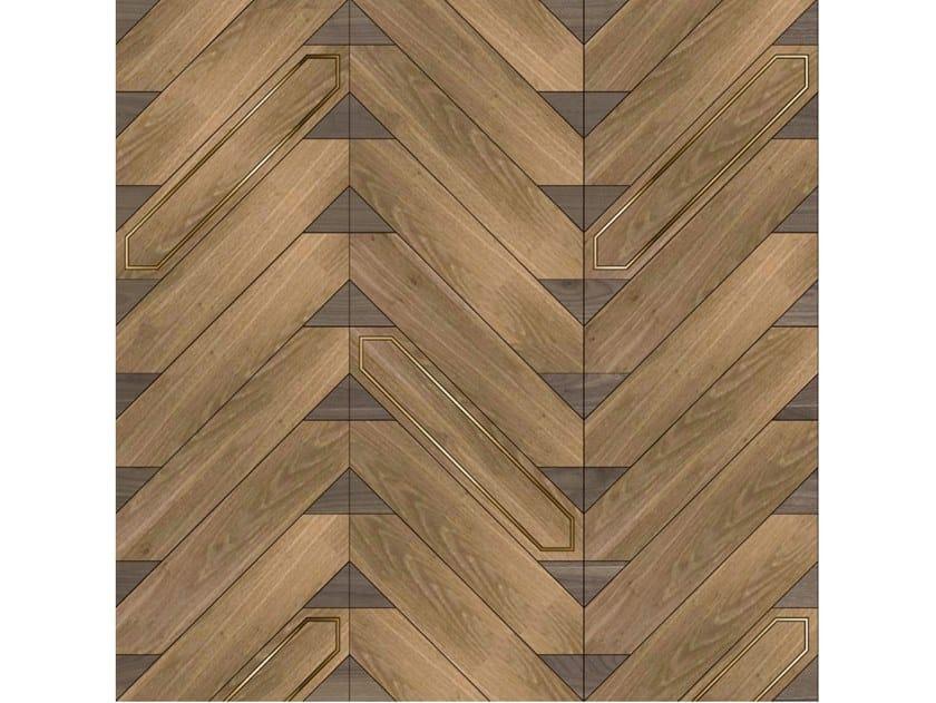 Pavimento/rivestimento intarsiato in legno per interni MODULO SPECIALE MATITA POSA 243 by FOGLIE D'ORO