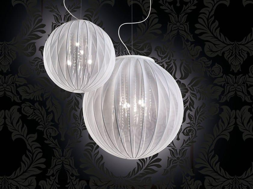 Lampada a sospensione a luce diretta in tessuto SPHERE   Lampada a sospensione by Masiero