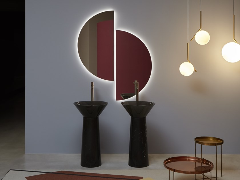 Wall-mounted mirror SPICCHIO by Antonio Lupi Design