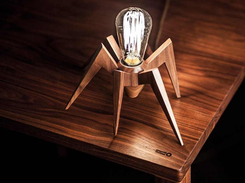 Solid wood pendant lamp / table lamp SPIDER by AROUNDtheTREE