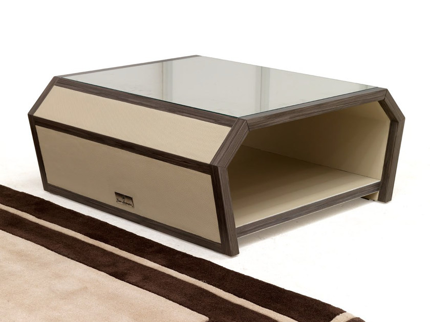 Low leather coffee table with storage space SPIDER | Coffee table by Tonino Lamborghini Casa