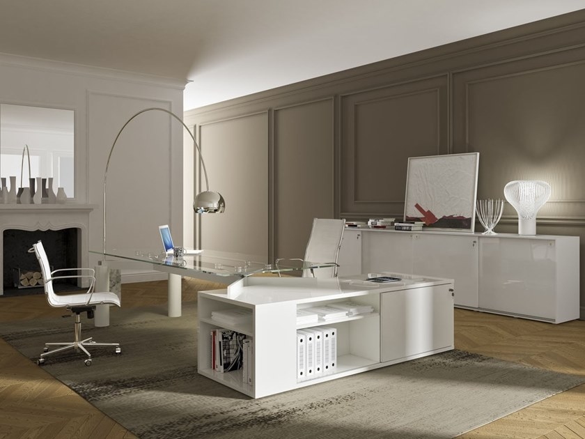 Glass executive desk SPIDER | Executive desk by PROF