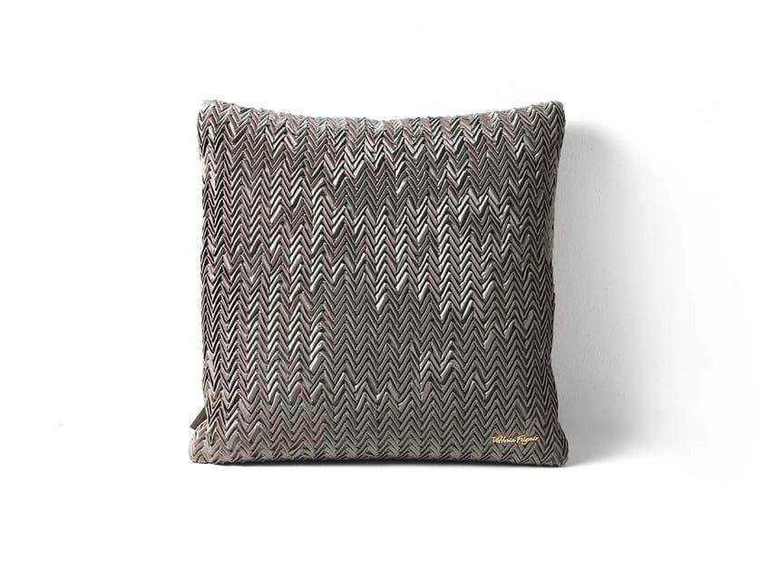Square fabric cushion SPIGA by Frigerio Salotti