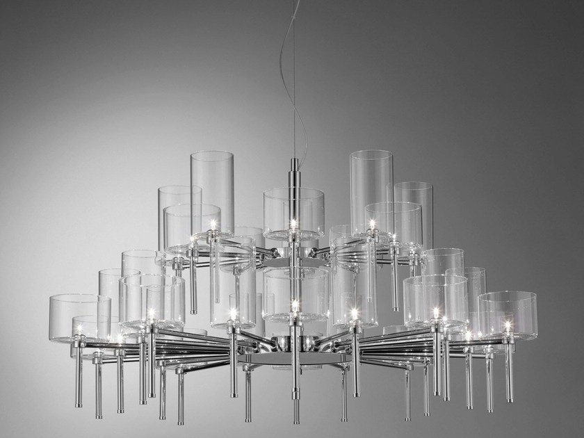 Direct light crystal chandelier SPILLRAY | Direct light pendant lamp by AXOLIGHT