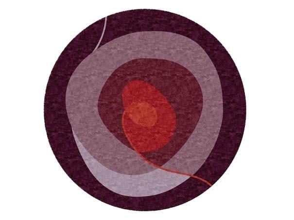 Handmade round rug SPIRAL by Deirdre Dyson