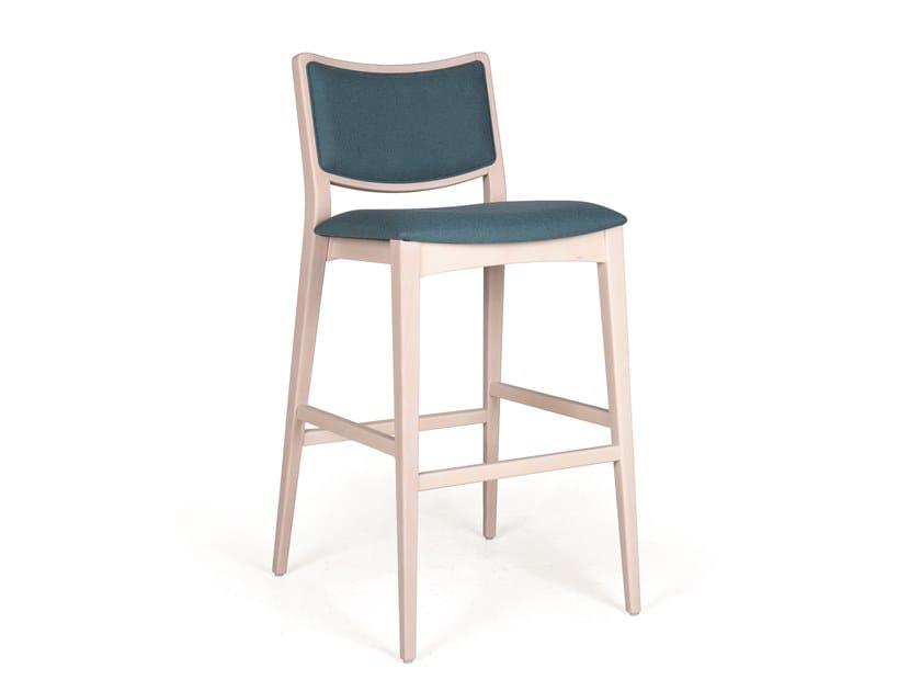 Upholstered solid wood barstool SPIRIT EST BAR by Fenabel