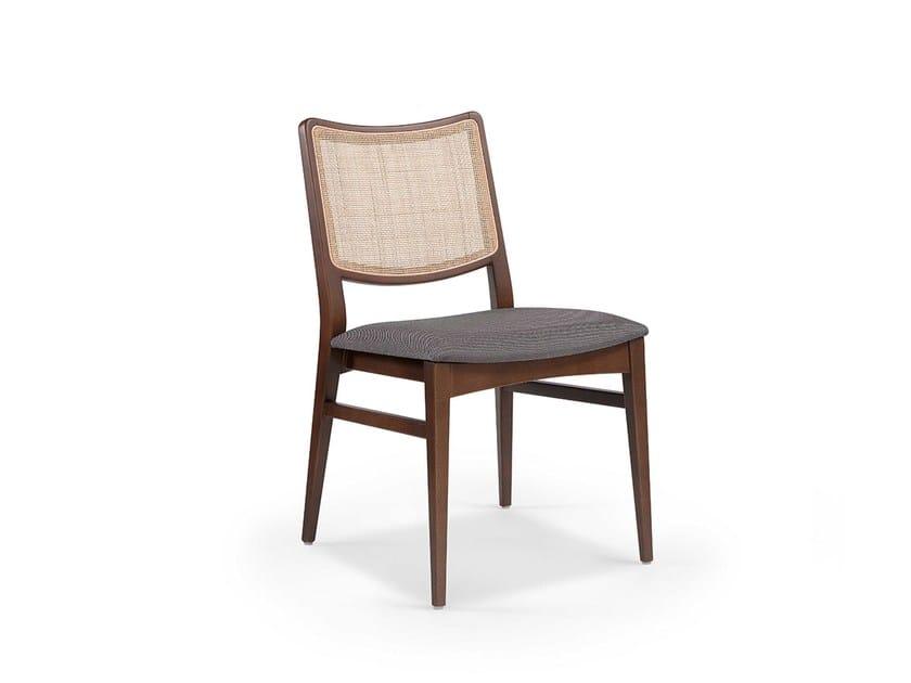 Wooden chair SPIRIT WICKER by Fenabel