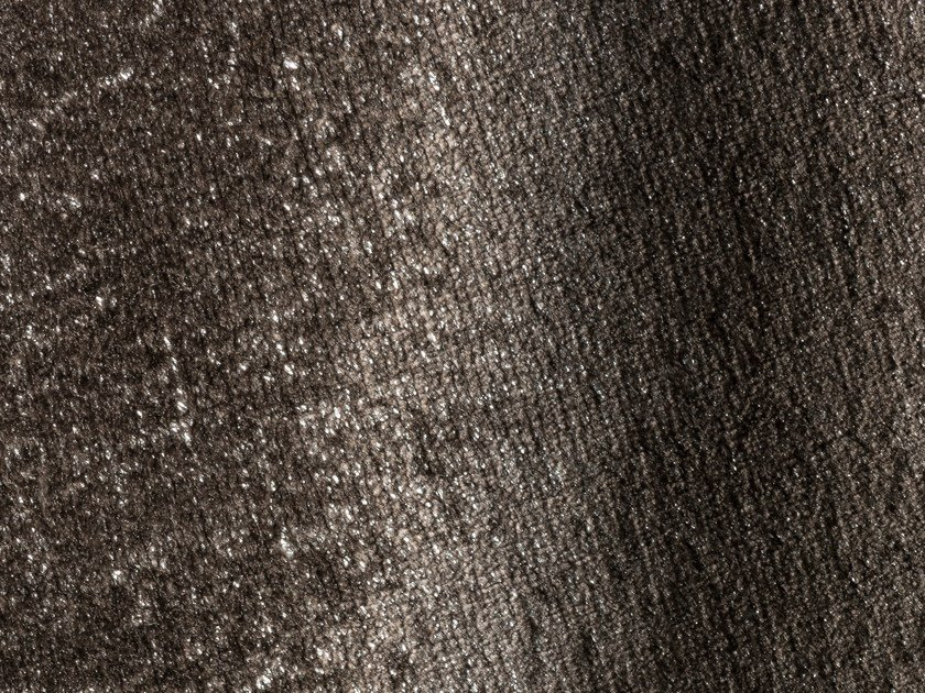 Laminated shiny velvet fabric SPLENDIDO SPLENDENTE by Dedar