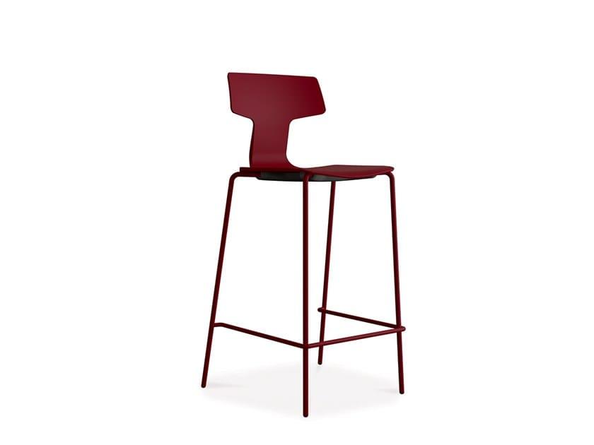 High stackable polypropylene stool SPLIT 3B by COLOS