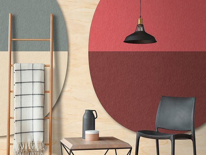 Washable Digital printing wallpaper SPLIT OVALS by Architects Paper