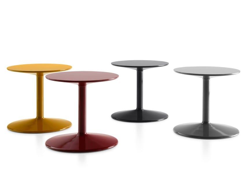 Round polyurethane coffee table SPOOL by B&B Italia