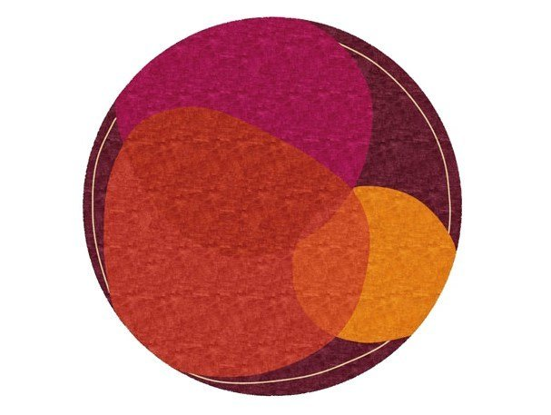 Handmade round rug SPOT LIGHT by Deirdre Dyson