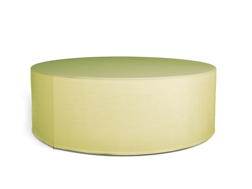 Upholstered fabric pouf SPOT by Sinetica