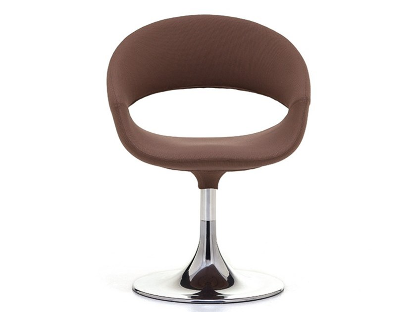 Leather reception chair with armrests SPOT SOFT | Reception chair by Linea Fabbrica