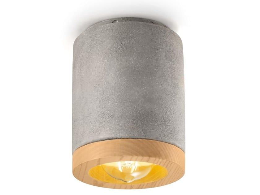Faretto rotondo in ceramica a soffitto MATECA | Faretto by FERROLUCE