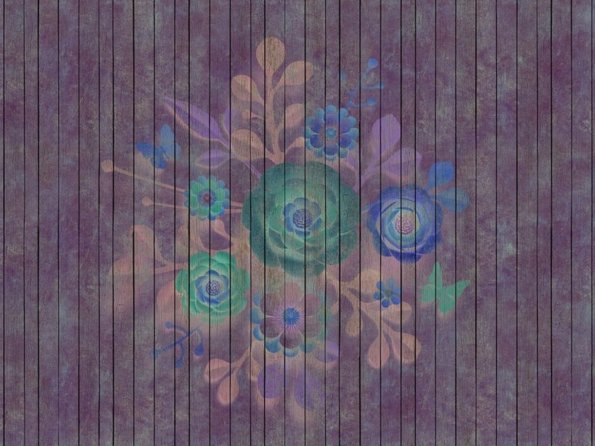 Digital printing wallpaper with floral pattern SPRAY BOUQUET by Architects Paper