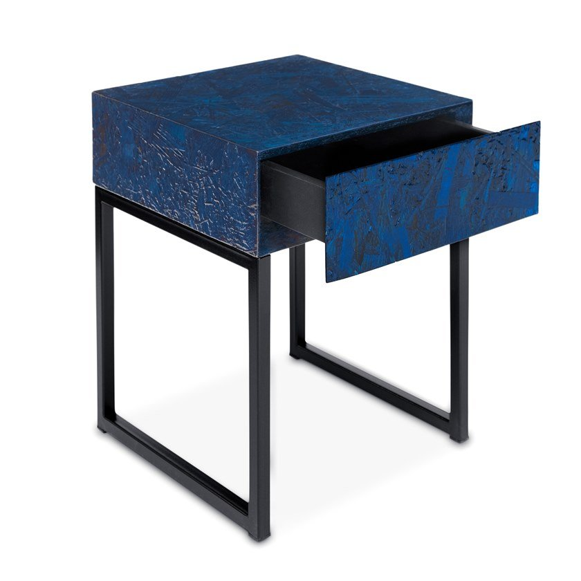 Square OSB bedside table with drawers SPRING | Bedside table by ARKOF LABODESIGN