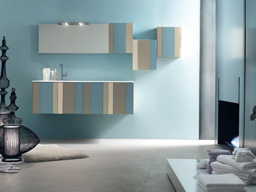 Bathroom cabinet / vanity unit SPRING - COMPOSITION 1 by Arcom