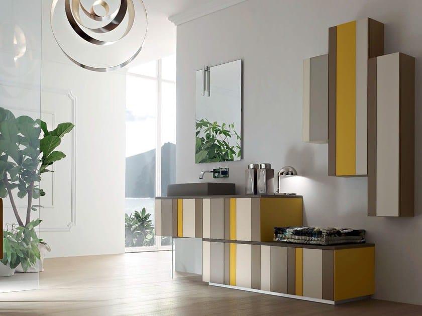 Bathroom cabinet / vanity unit SPRING - COMPOSITION 5 by Arcom