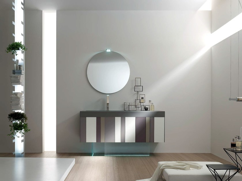 Lacquered single vanity unit SPRING - COMPOSITION 8 by Arcom