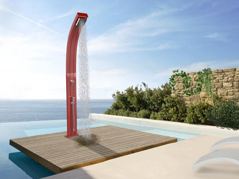 Aluminium outdoor shower SPRING TOPLINE by ARKEMA DESIGN