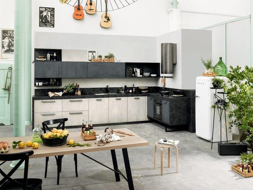 Wooden kitchen with handles SPRING URBAN   Kitchen with handles by DIBIESSE