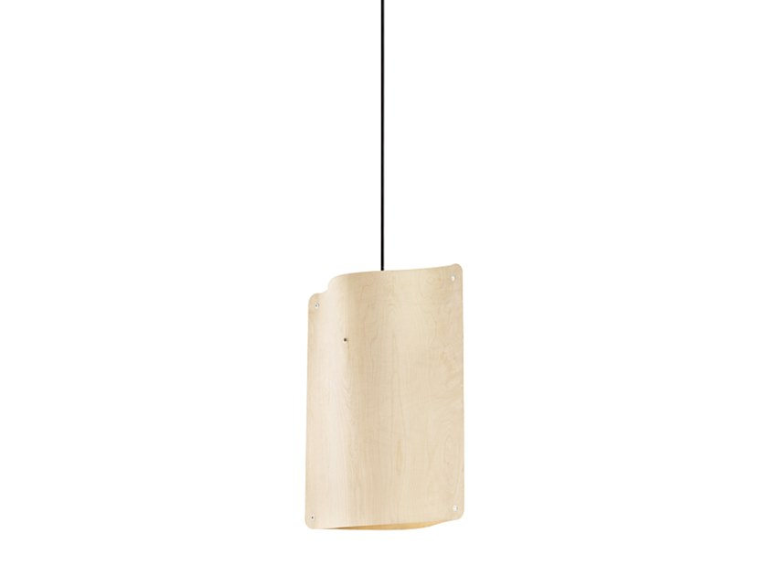 bb942b3c52315 LED multi-layer wood pendant lamp SQUARE PENDANT SMALL by Finom Lights