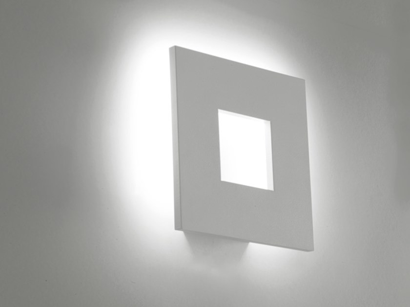 LED aluminium wall lamp SQUARE by Cattaneo