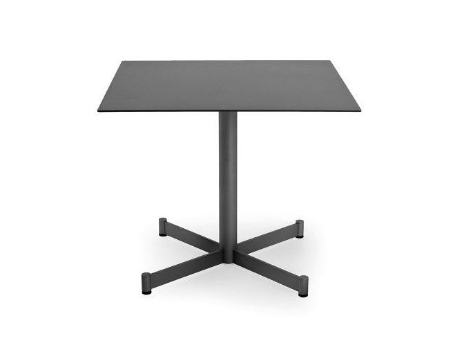 Square aluminium garden side table TEODORA | Square coffee table by Braid